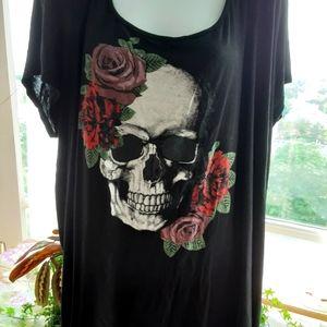 Skull Tshirt w/ Mesh Back